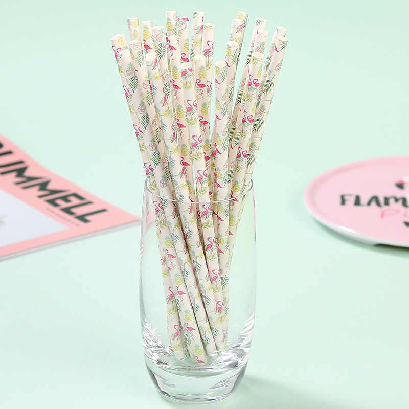 25 pcs פלמינגו קשיות האהבה קש שתיית נייר קשיות מסיבת הרווקים ילדי מסיבת יום הולדת קישוטים