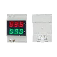 D52 2042 multifunction Dual LED Display Voltag  Current Meter Din rail Voltmeter Ammeter range AC 80 300V 99.9A 30%off|voltmeter ammeter|voltage current meter|voltage current -