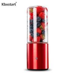Orange Citrus Lemon Fruit Food Glass Juicer Wireless USB Rechargeable Portable Smoothie Bottle Blender Cup 300ML 12 Blenders
