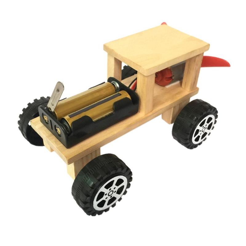 Diy Electric Wind Car Assembled Puzzles Science Experiment Kits Educational Mini Model Early Learning Toy Kid Science Toys Gif