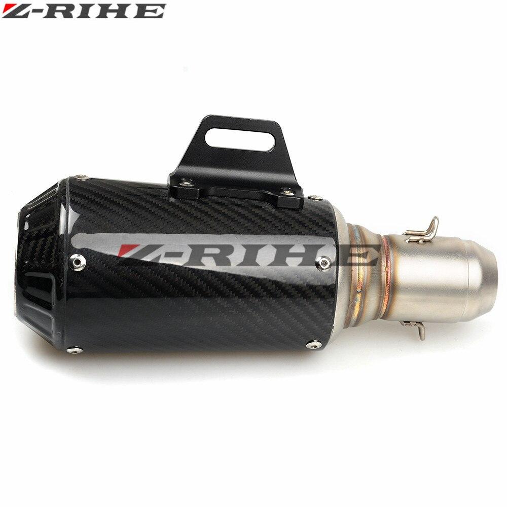 36 51mm Kohlefaser Motorradauspuff Schalldämpfer Modifizierte Auspuffrohr Für Benelli Hurrikan 1130 Blue Dragon BJ300GS Z1000 Z800 - 4