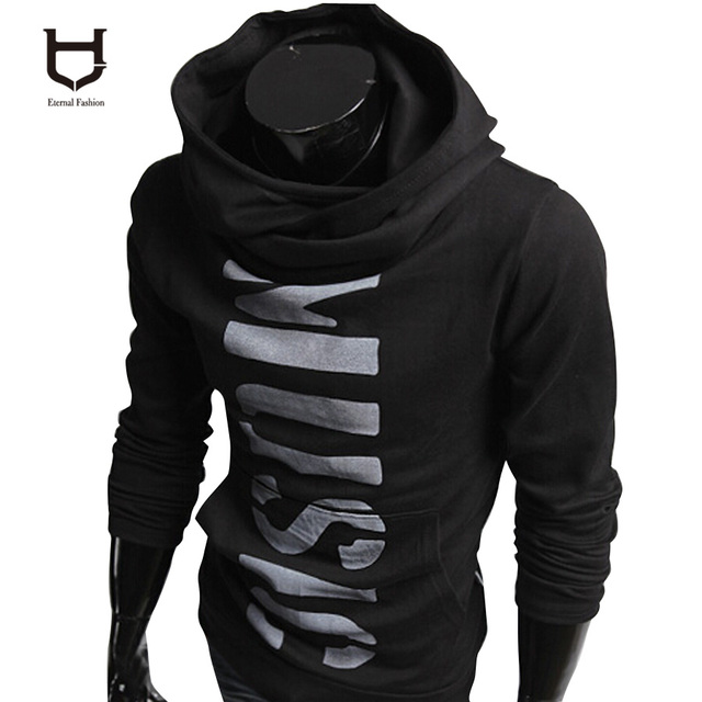 hood Suit men turtle neck hoodie Jerseys letter printed pullover trendy tracksuit hood slim sweatshirt slim jacket jaqueta W106