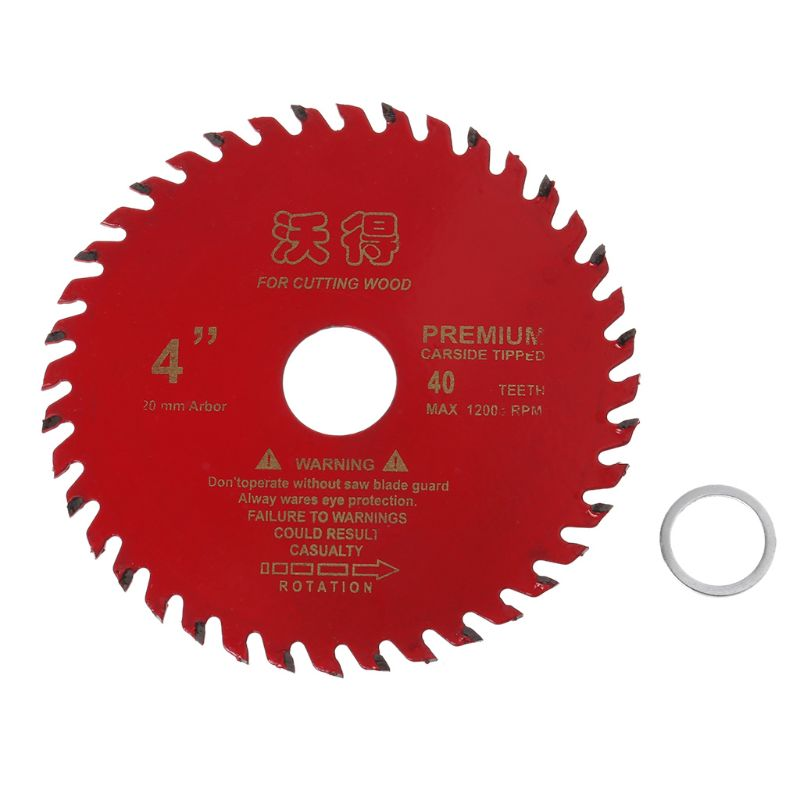 4inch Circular Saw Blade 105mm 40 Teeth Wood Cutting Tool Woodworking Bore Diameter 20mm
