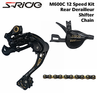 S RIDE MTB Bike M600C 12 Speed Shifter + Rear Derailleurs + SUMC S12 Chain Groupset, compatible for shimano Eagle 12, M9100