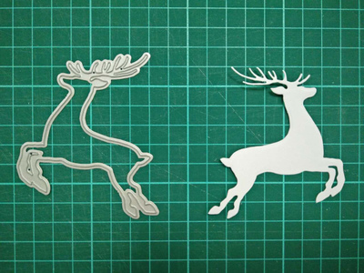Elk Metal Die Cutting Scrapbooking Embossing Dies Cut Stencils Decorative Cards DIY album Card Paper Card Maker m word hollow box metal die cutting scrapbooking embossing dies cut stencils decorative cards diy album card paper card maker
