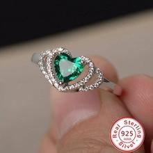 Классические ювелирные изделия, двойное сердце, кольца для женщин, 925 пробы, серебро, романтические, полые, свадебные кольца, амулеты, аксессуары
