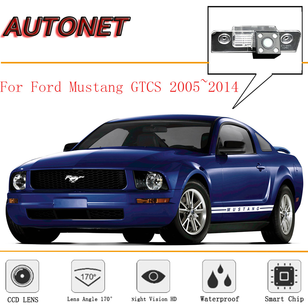 AUTONET Rear View camera For Ford Mustang GT/CS 2005~2014/CCD/Night Vision/Reverse Camera/Backup Camera/license plate camera