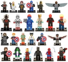 480pcs/lot Super Heroes Avengers Minifigures Captain America Spider-Man Hulk Bane Robin Batman Ultron block toys