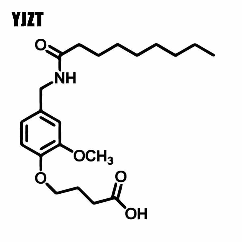 YJZT 15.3CM*14.2CM Structural Knowledge Of Scientific Chemistry Vinly Decal Decor Car Sticker Black/Silver C27-0312