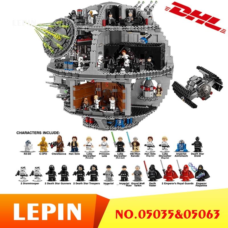 DHL Lepin 05063 05035 Star Series Wars UCS Death Star Educational Building Blocks Bricks Toys Compatible 75159 10188