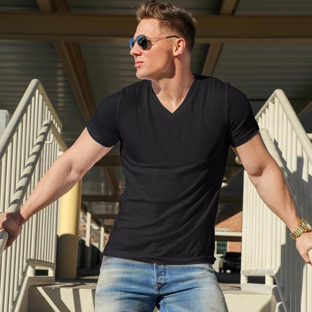 2018 MRMT Brand Clothing 10 colors V neck Men's T Shirt Men Fashion Tshirts Fitness Casual For Male T-shirt S-5XL Free Shipping 1