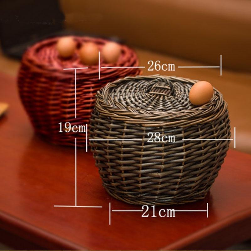 Pastoralinės austi pintinių rotango kiaušinių krepšiai su - Organizavimas ir saugojimas namuose - Nuotrauka 6