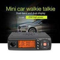 Zastone Car Walkie Talkie VHF UHF Mini Mobile Radio HF Transceiver Two Way Ham Radio For Hunting Radio Station Z218