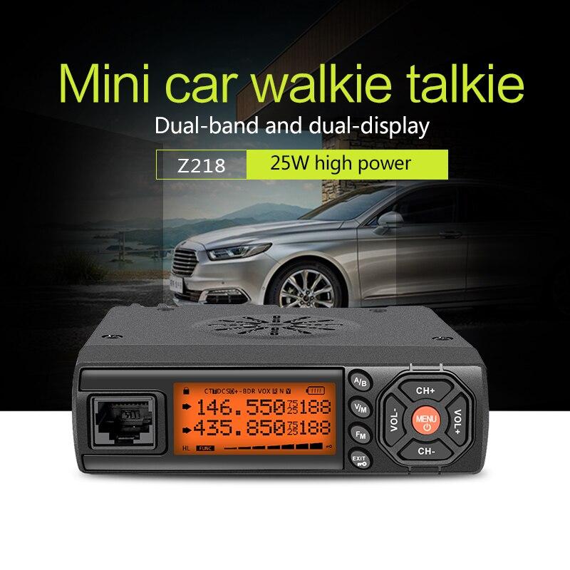 Zastone zt-Auto Walkie Talkie VHF UHF Mini Mobile Radio HF Ricetrasmettitore Bidirezionale Ham Radio Per La Caccia Radio Stazione di Z218