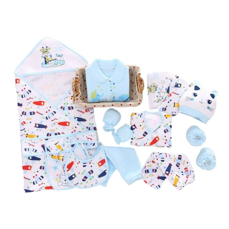 Cotton 19 pcs/set thickening for new born baby clothes gift set for 0-6M Brand baby underwear kids Clothes with baby blanket нижнее белье для мальчиков new brand 100% kids underwear