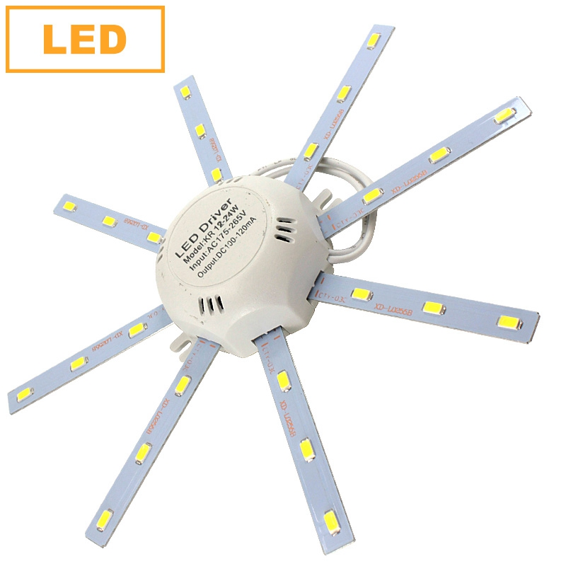 все цены на LED Lamp SMD 5730 12W 16W 24W LED Ceiling Lamp 220V Octopus Light Energy Saving LED Board Indoor Lighting LEDs Light онлайн