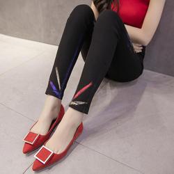 Для женщин Фирменная Новинка Хай-стрит черный Высокая талия узкие джинсовые штаны джинсы для Для женщин Жан A348