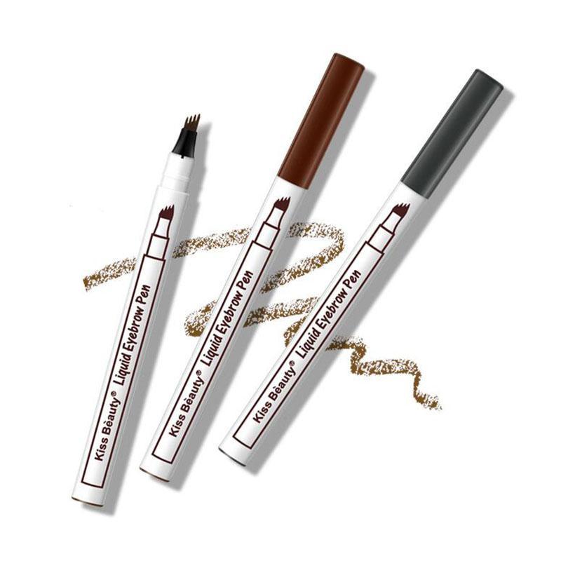BellyLady Kiss Beauty Liquid Eyebrow Pen, Waterproof Eyebrow Pen Adopting Four-Prong Brush Tip Design