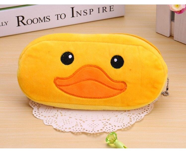 Kawaii Cartoon Pen case Totoro plush Smile Face Emoji Cute Pencil case School Minecraft etui trousse scolaire stylo 04819 29