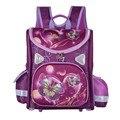 Niños cartoon cat mariposa monster high school bolsas para niñas niños ortopédicos doblado de la taleguilla mochilas mochila infantil