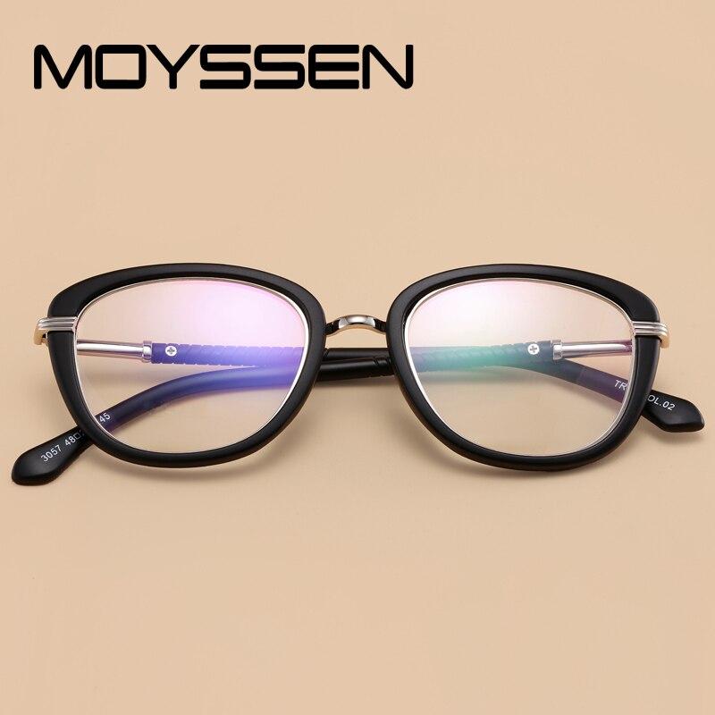 3c32adb4b29 Online Shop MOYSSEN Fashion Korean Brand Design Women Female Retro TR90 Eyeglasses  Frame Flexible Optical Prescription Glasses Spectacles