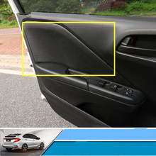 4pcs Set High Quality Pu Leather Interior Door Panel Protective Cover For Honda City 2017