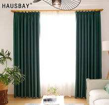 High Shading Rate 85%-95% Malachite Green Blackout Curtains for Bedroom Living Room Blinds Window Treatment Drapes CT1003-3