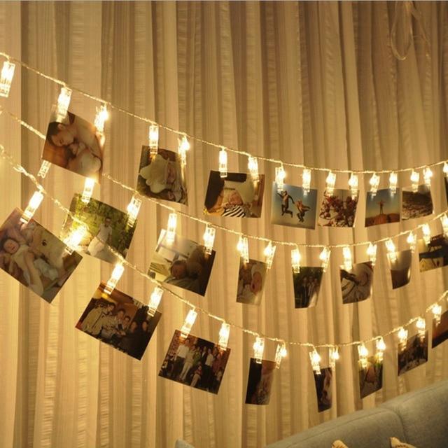 Photo led string light personalized wedding decoration starry photo photo led string light personalized wedding decoration starry photo holder string light birthday party clip window junglespirit Choice Image