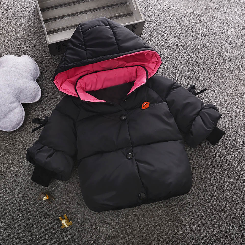 Winter Chidren Kid Baby Boy Girl Hooded Jacket Warm Thick Coat Outerwear Clothes
