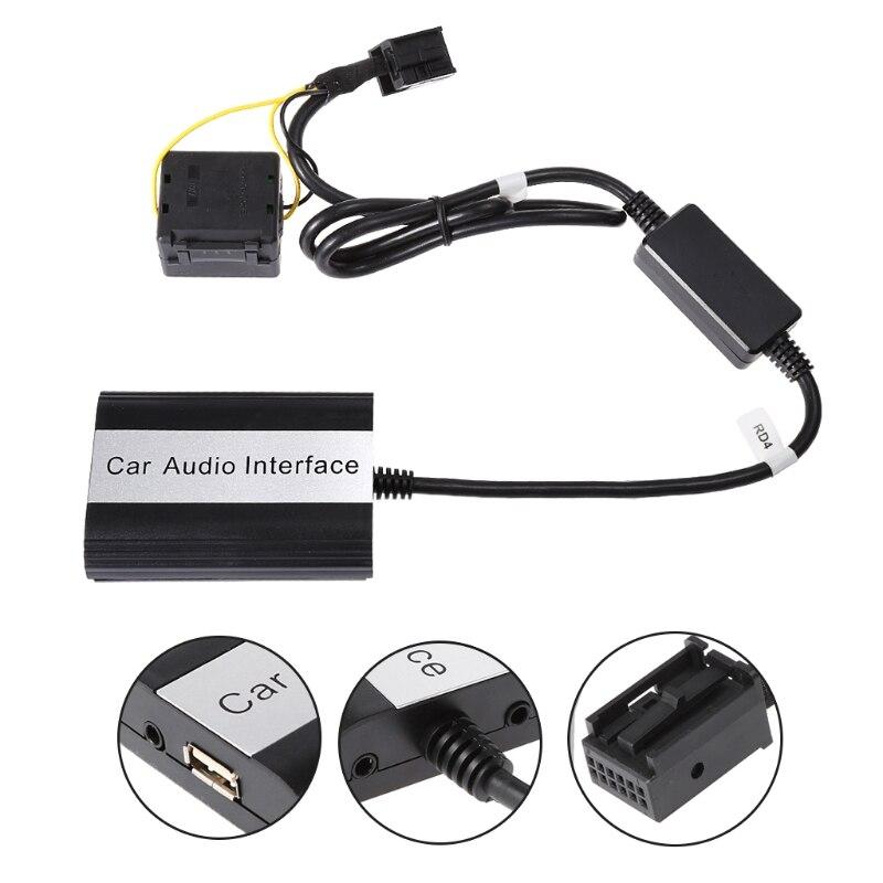 Kit mains libres Bluetooth pour voiture Interface adaptateur MP3 AUX pour RD4 Peugeot citroën livraison directe Support