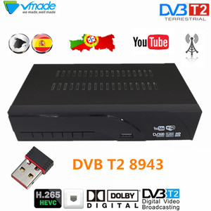Image 1 - Vmade DVB T2 8943 HD Digital Decoder H.265 Terrestrial TV receiver TV Scart support Dolby AC3 Youtube with USB WIFI Set Top Box
