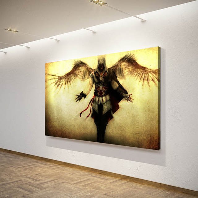 1 Pieces Assassin Creed Wings Wall Art Canvas Pictures For Living ...