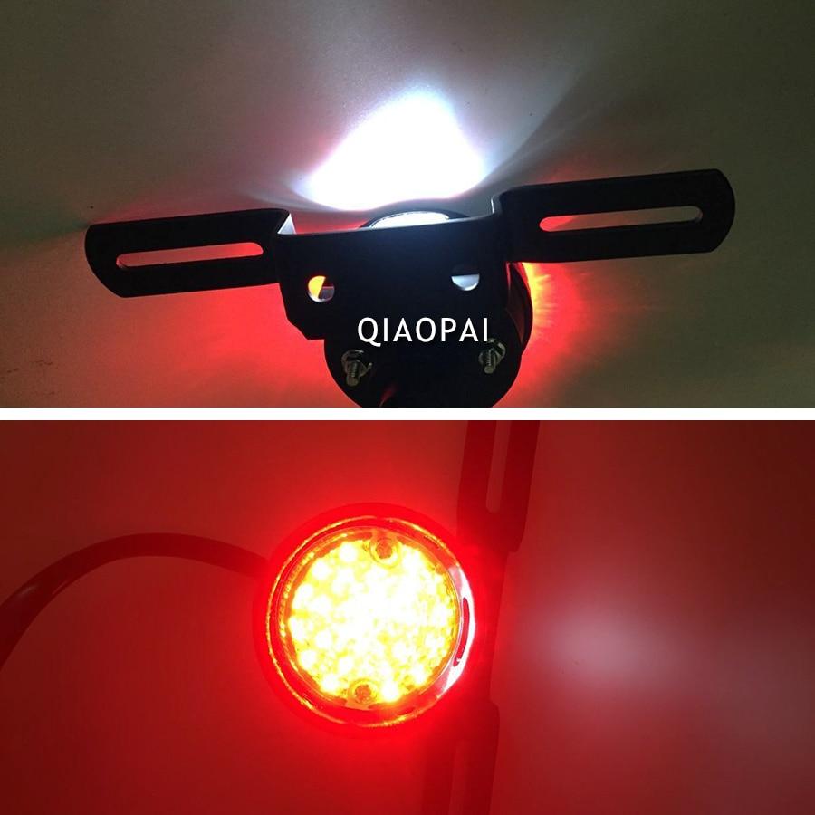 1pc Refit Motorcycle Brake LED Light Cafe Racer Tail Light License Plate Warning Signal Light for Harley-Davidson Retro Style