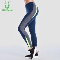 Vansydical 2018 Women S High Waist Yoga Pants Skinny Running Tights Fitness Dance Trousers Training Jogging
