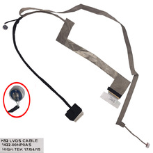 New LCD LED Video Flex Cable For ASUS K52 K52F K52JR K52n A52 A52F A52JB A52j LED with mic 1422-00NP0AS DD0KJ3LC000 lvd cable for asus k52 k52f k52jr k52je k52n a52 a52f a52jb a52j laptop lcd screen flex cables 1422 00np0as free shipping