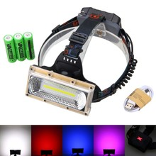 Waterproof Front Bicycle Headlight 3000LM LED Bike Light 2 in 1 Bike Headlamp Light  USB Charger + 3*18650 Rechargeable Battery