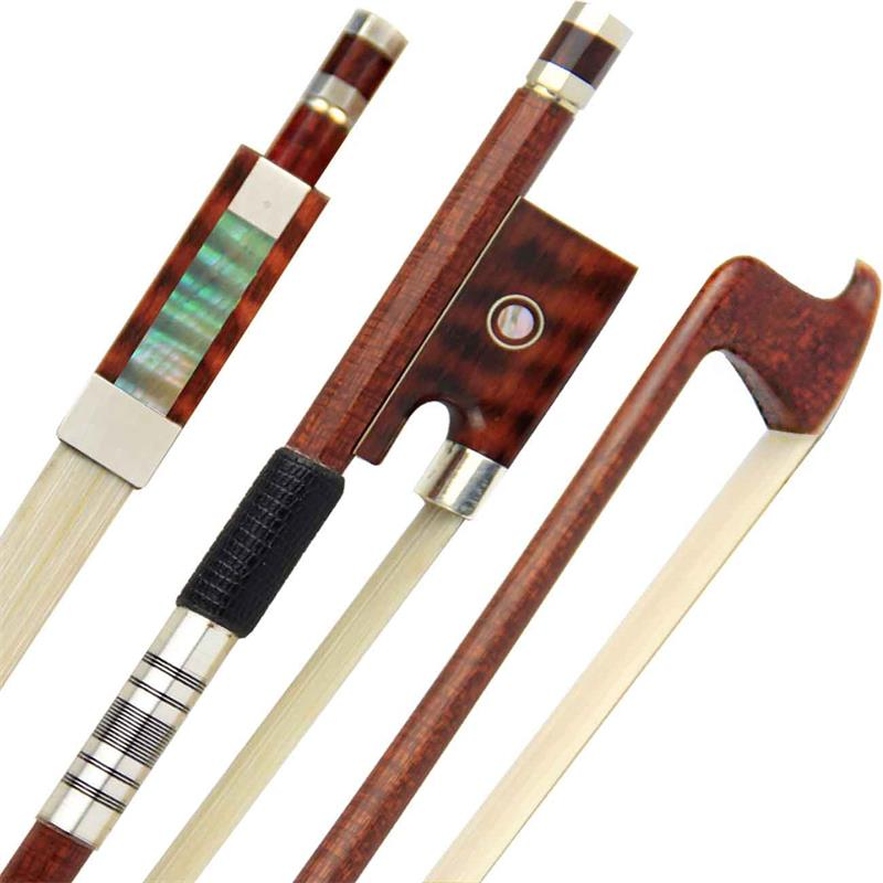Free Shipping Pro Carbon Fiber Violin Bow 4/4 Violin Bow Siberia White Horsetail Nickel Silver Parts Best Balance aaaaa professional pernambuco wood 4 4 violin bow white siberia horsetail nickel siver mounted ebony frog free shipping 9