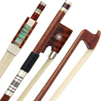 Free Shipping Pro Carbon Fiber Violin Bow 4/4 Violin Bow Siberia White Horsetail Nickel Silver Parts Best Balance