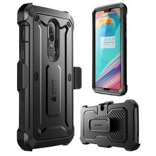 SUPCASE غلاف حماية لجهاز OnePlus 6 UB Pro كامل الجسم متين الحافظة مع واقي للشاشة مدمج لحقيبة One Plus 6