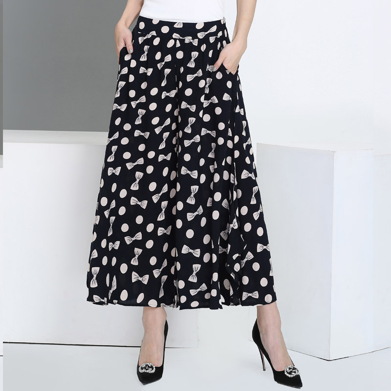 Summer runway casual harem flare high waist loose floral Wide leg pants women clothing print Vintage trousers plus size