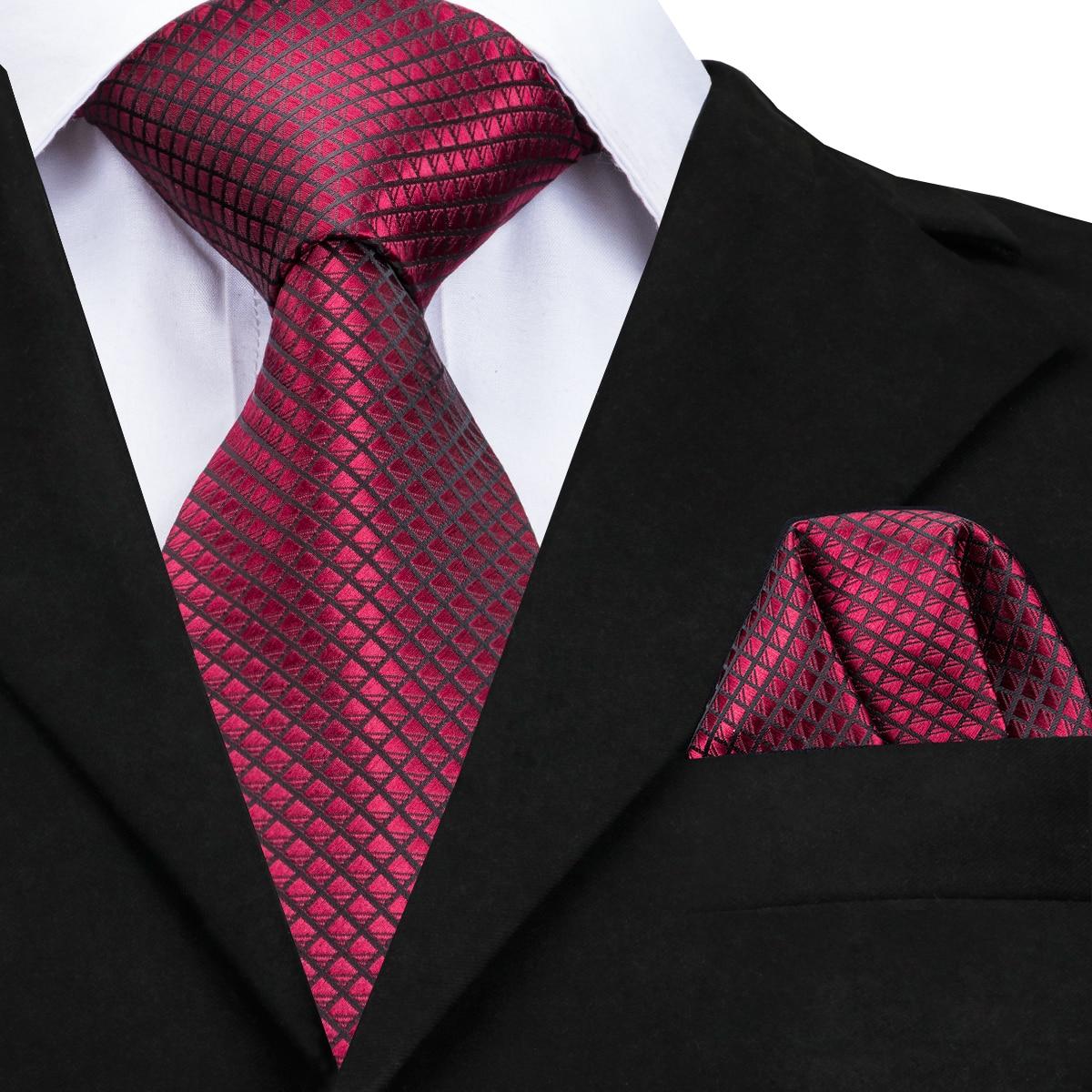 Hallo-Krawatte Hohe Qualität Silk Krawatten für Männer 160 cm Lange Mode Red Krawatte 8 cm Breite Formale Plaid männer Krawatte Männlichen Herren Krawatten CZ-005