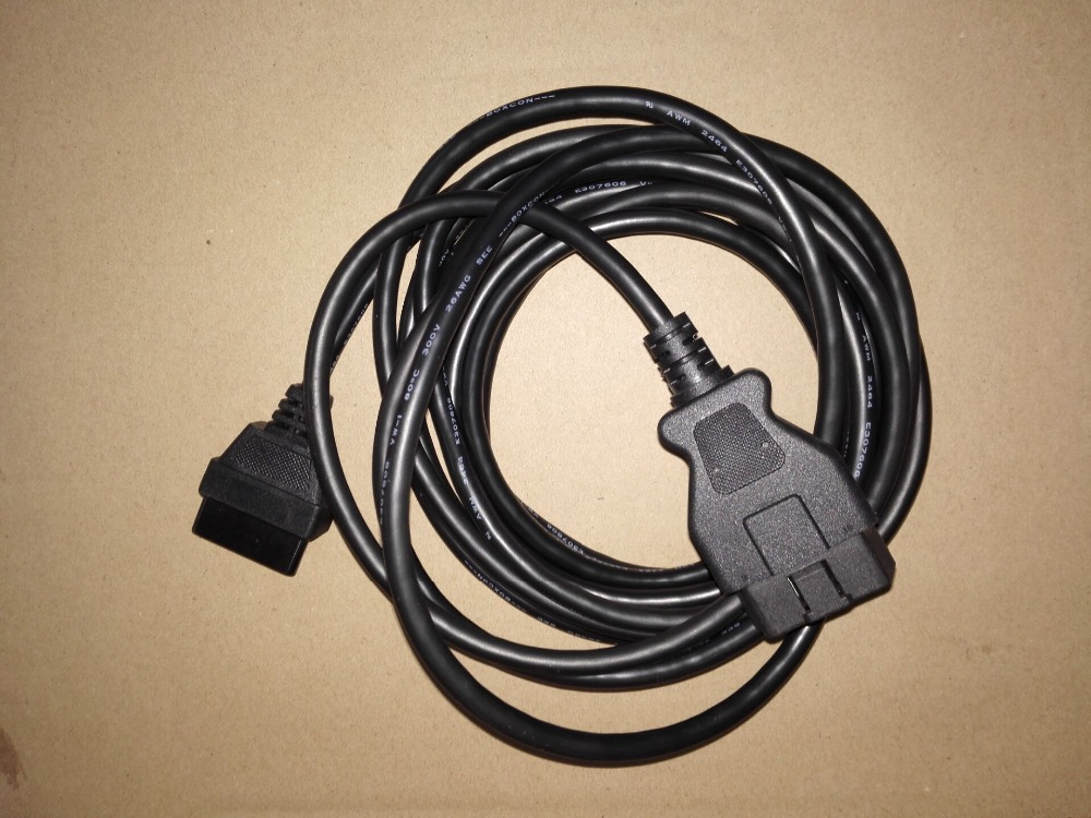 5M <font><b>OBD2</b></font> <font><b>16</b></font> <font><b>pin</b></font> Male to <font><b>Female</b></font> Extension Cable Cord 16pin to 16pin Full Access OBD II Connector image