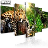 Full Square Drill Diamond Embroidery Forest Tiger 5D DIY Diamond Painting Cross Stitch Multi Picture