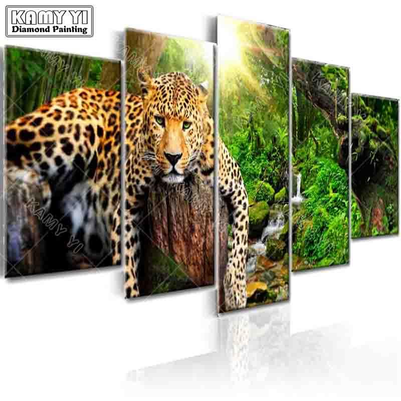 Voll platz bohrer Diamant stickerei Wald tiger 5D DIY diamant malerei Kreuzstich Multi-bild home decoration
