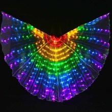 New Arrival 5 colors LED BellyDancing Isis Wings nice dancing LED light IsisWings luminous dance Props LED Wings, with Sticks