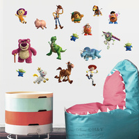 50pcs/Pack New Toy Story Wall Stickers Kids Room Nursery Vinyl Decal Art Mural Gift