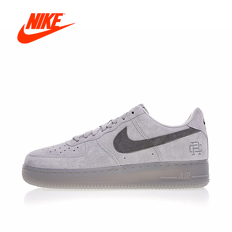 Original New Arrival Authentic Nike Air Force 1 Low x Reigning Champ Men's Skateboarding Shoes Sport Outdoor Sneakers AA1117-118