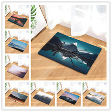 Landscape Printing For Living Room Flannel Carpet Religious Pattern Bathroom Mat 40x60cm Hallway Rectangle Tapete(China)