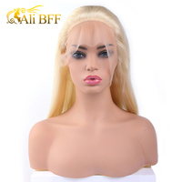 Brazilian Straight Blonde 613 Lace Wig Remy Human Hair Extensions Lace Front Human Hair Wigs ALI BFF Hair Products