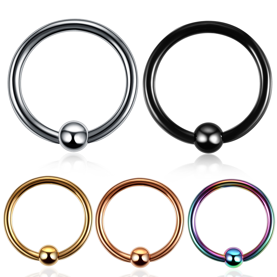 Modrsa 2pcs 16g Captive Bead Rings Ball Closure Body Hoop Septo Nose Lip Women Eyebrow Ear Septum Cartilage Helix Jewelry Jewelry & Accessories